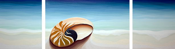 This painting is a reflection of  my adventure through the south pacific islands on my sail boat Phase 3
